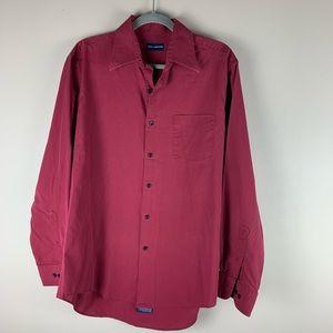 John Ashford Men's Red Button Down Shirt size L